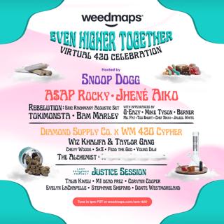 Weedmaps Even Higher Together Virtual 4/20 Event